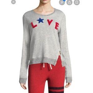 Sundry- Love zipper Sweatshirt